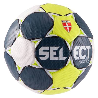 BALLON HANDBALL SELECT ULTIMATE  TAILLE 3 BLEU JAUNE BLANC