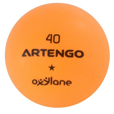 LOT DE 6 BALLES DE TENNIS DE TABLE FB 800 ORANGES ARTENGO
