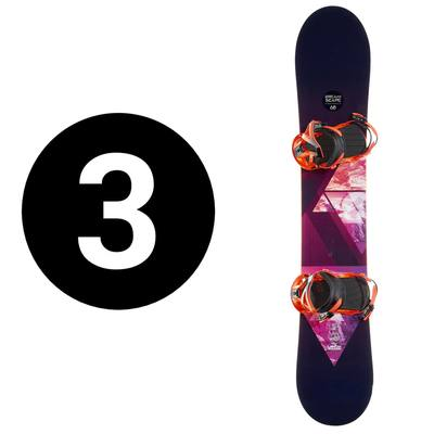 Pack snowboard all mountain Freeride Dreamscape 700 Powder noir et orange
