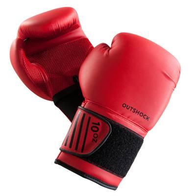 sports shoes 82e2e 079c8 GANTS DE BOXE 100 ROUGES, boxeur débutant homme ou femme