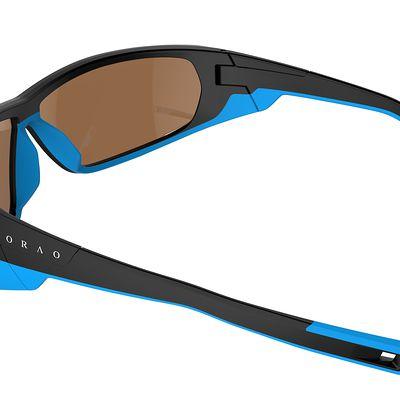 Lunettes de ski adulte SKIING 700 noires & bleues catégorie 4
