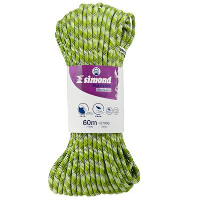 CORDE À DOUBLE RAPPEL 8,6MM X 60M D'ESCALADE SIMOND