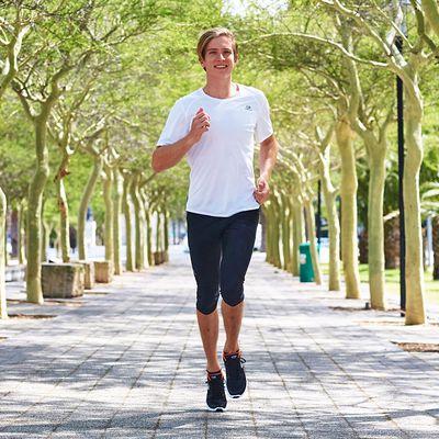 TEE SHIRT RUNNING HOMME RUN DRY BLANC
