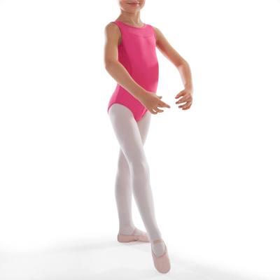 Justaucorps de danse classique bi-matière fille fuschia