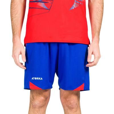 Short de handball H500 homme bleu et rouge - Clubs   Collectivités ... 6c3333b082e
