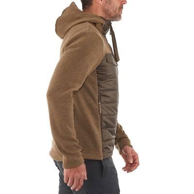 Pull randonnée homme Arpenaz Hybrid marron