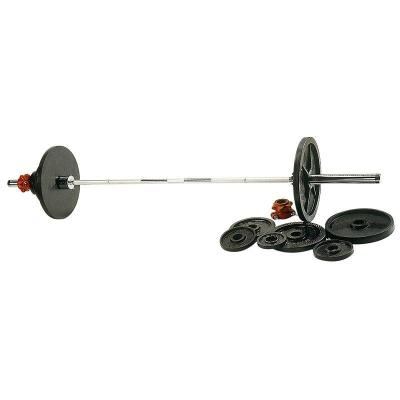 Kit haltères et barre musculation 140 kg