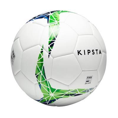 Ballon de football thermocollé F900 FIFA Pro taille 5 blanc vert bleu