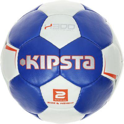 Ballon de handball H300 taille 2 bleu blanc