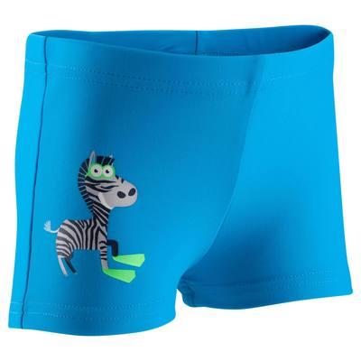 Maillot de bain bébé garçon boxer titou zebro bleu