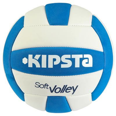 BALLON SOFT VOLLEY-BALL KIPSTA BLEU BLANC