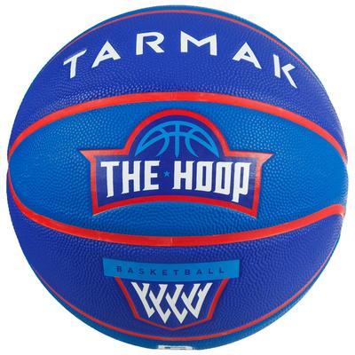 Ballon de basket enfant Wizzy blason bleu navy taille 5.