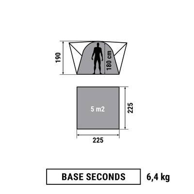SEJOUR A PORTES CAMPING / CAMP DU RANDONNEUR SECONDS XL 6 PERSONNES UPF30 VERT