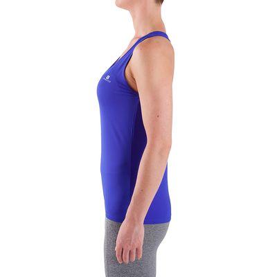 Débardeur fitness cardio femme bleu MY TOP