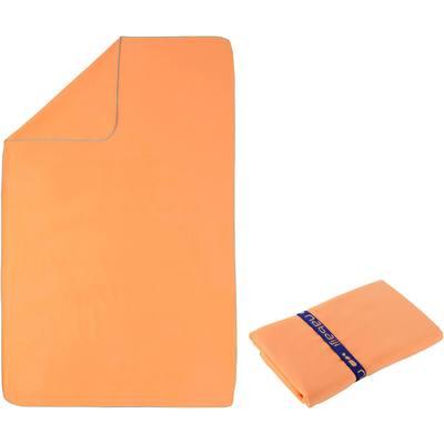 Serviette microfibre orange clair taille L 80 x 130 cm