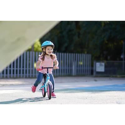 Draisienne enfant 10 pouces Run Ride 500  bleu et Rose