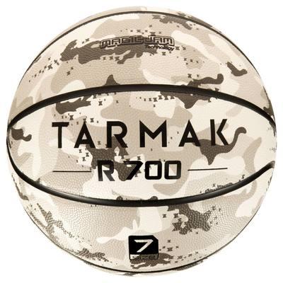 BALLON DE BASKET ADULTE TARMAK 700 TAILLE 7 CAMO GRIS. INCREVABLE ET SUPER TOUCHER.