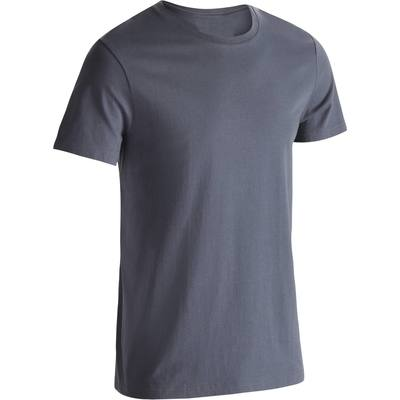 T-Shirt Sportee 100 regular Gym Stretching homme gris