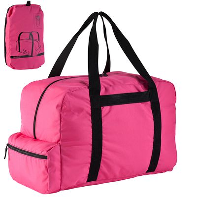 SAC DUFFLE POCKET NEWFEEL 55L ROSE