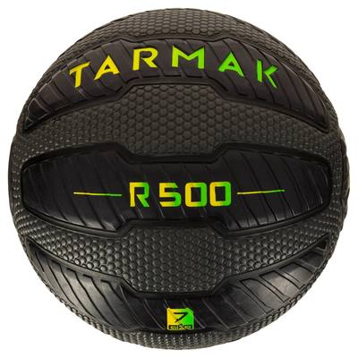 Ballon de basket adulte R500 taille 7 noir. Increvable et ultra agrippant.