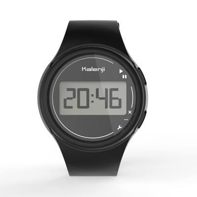 Montre chronomètre de course à pied homme W100 M noire