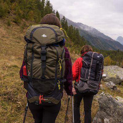 Sac à dos de randonnée adulte Forclaz 70L gris foncé pour plusieurs jours