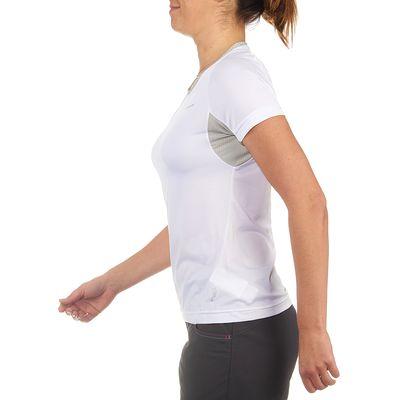 T Shirt Manches Courtes Randonnée TechFRESH 50 femme Blanc