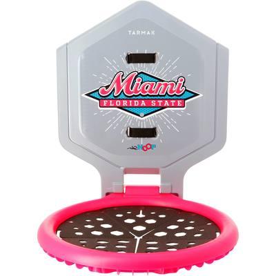 Panier de basket enfant/adulte THE HOOP Miami gris rose. Transportable.
