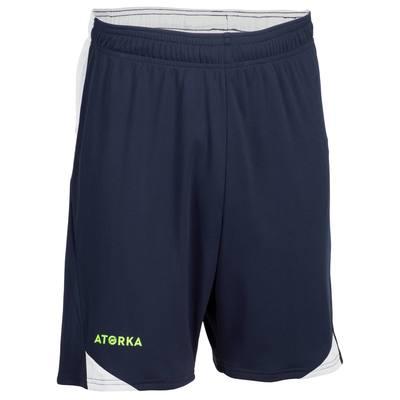 Short de handball homme H500 bleu / gris