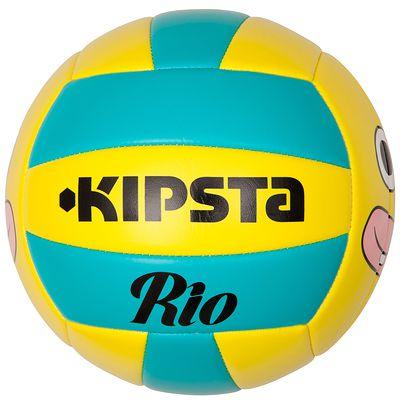 Ballon volleyball extérieur  Rio Face jaune bleu