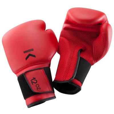 GANTS DE BOXE 100 ROUGES, boxeur débutant homme ou femme