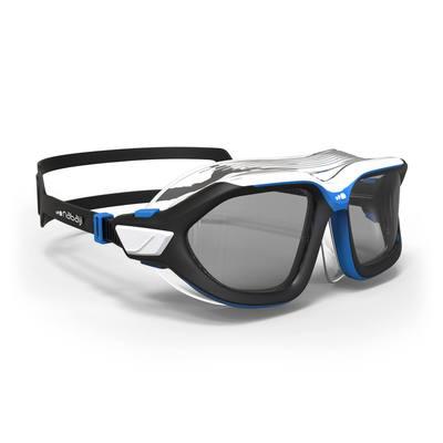 Masque de natation 500 ACTIVE taille L Noir Bleu verres fumés