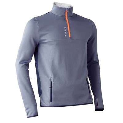 SWEAT 1/2 ZIP D'ENTRAINEMENT DE FOOTBALL ADULTE T500 GRIS