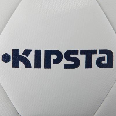 Ballon de football F100 Hybride taille 4 blanc vert