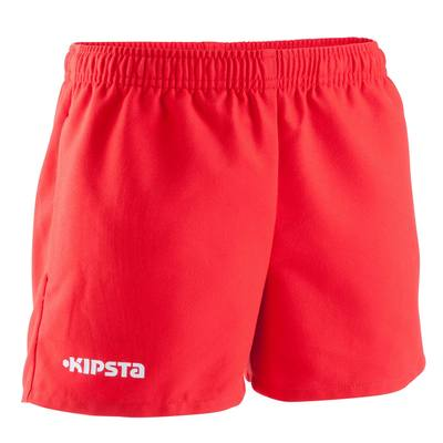 Short Rugby 100 enfant rouge