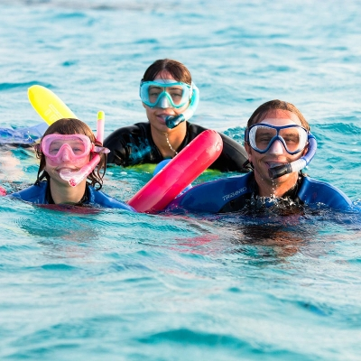 Bouée de snorkeling SB100 jaune