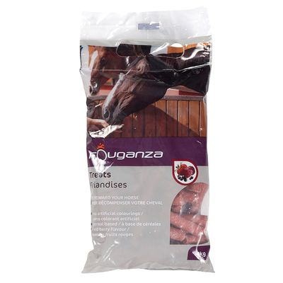 Friandises pour chevaux et poneys FOUGATREATS fruits rouges - 1KG