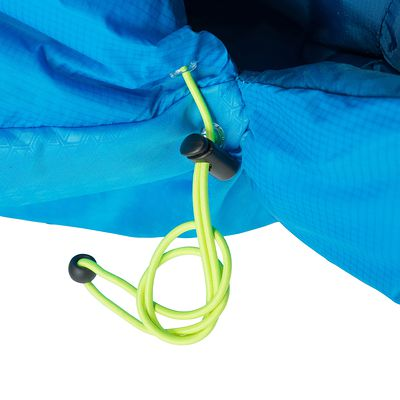 Sac de couchage de randonnée FORCLAZ 15° LIGHT bleu zip gauche