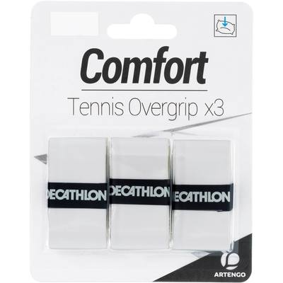 SURGRIP DE TENNIS CONFORT BLANC LOT DE 3