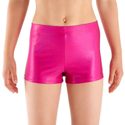 Shorty Paillettes Gym Fille Rose