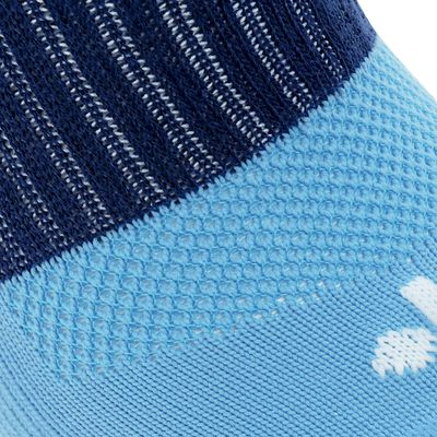 Chaussettes hautes football adulte F500 bleu ciel