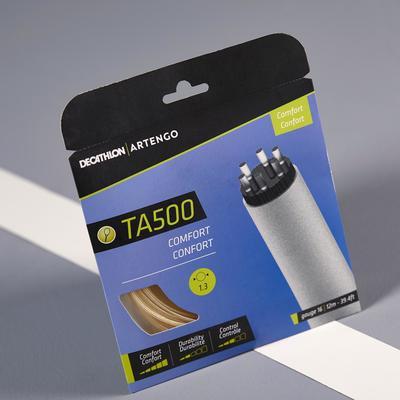 CORDAGE DE TENNIS MULTIFILAMENTS TA 500 CONFORT 1,3mm BEIGE