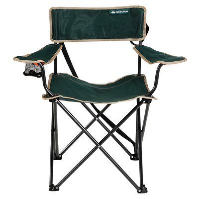 Mobilier camping fauteuil pliant vert