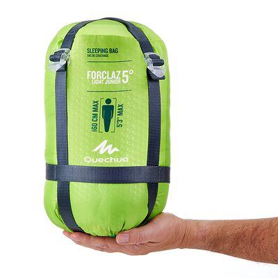 Sac de couchage de randonnée enfant FORCLAZ 5° LIGHT vert