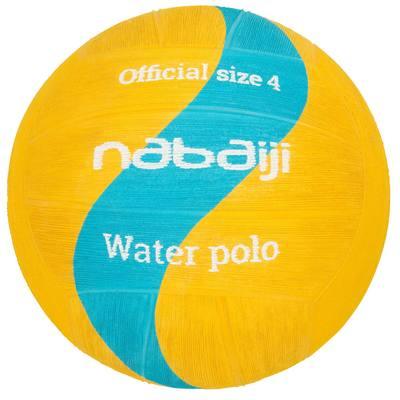 BALLON WATER POLO TAILLE 4 JAUNE BLEU