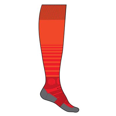 Chaussette de football adulte F500 orange