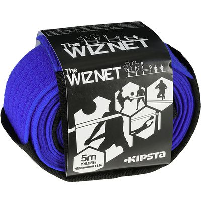Filet de beach-volley extensible The Wiz Net bleu