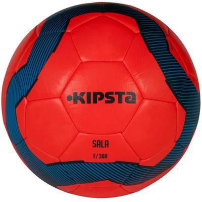 Ballon futsal 300 hybride taille 63 cm rouge bleu