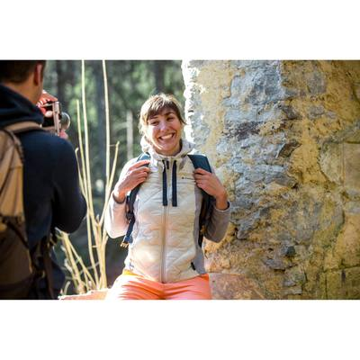 Pull randonnée nature femme Arpenaz hybrid beige
