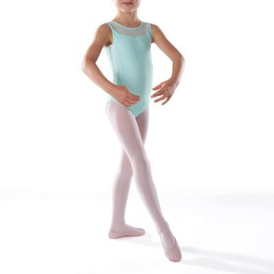 Justaucorps de danse classique bi-matière fille menthe pastel
